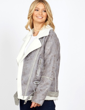 Blue Vanilla Grey shearling